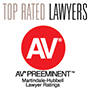 AV Preeminent - Top Rated Lawyers - Martindale-Hubbell Lawyer Ratings